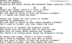 The Basement Lyrics Bob Dylan Song People Get Ready Lyrics And Chords