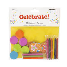 unique stationery party favours bag 24pk at wilko com