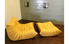 Yellow Leather Sofa by Yellow Leather Togo Sofa Set By Michel Ducaroy For Ligne Roset