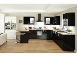 cuisine blanche et noir cuisine noir et bois 9n7ei com