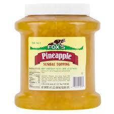 fox u0027s pineapple ice cream topping 1 2 gallon container
