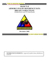fksm 71 8 brigade combat teams december 2009