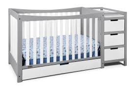 graco remi 4 in 1 convertible crib and changer pebble gray white
