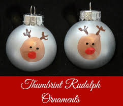 thumbprint rudolph ornaments one artsy