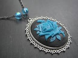 victorian cameo necklace images Victorian blue rose big cameo necklace vamps jewelry gothic jpg