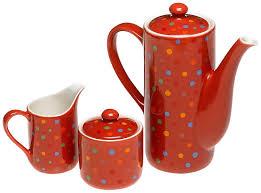 amazon tea amazon com yedi houseware classic coffee and tea polka dot