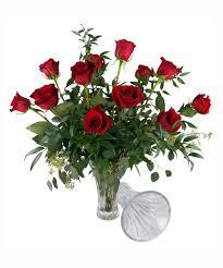 Vase With Roses 12 Roses In Waterford Crystal Vase Nanz U0026 Kraft Louisville Ky