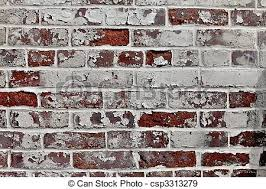Brick Texture Paint - stock photographs of old red brick wall texture and white old