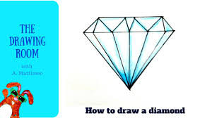 diamond shape how to draw a diamond shape easy gems youtube