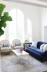 modern black leather sofa or navy velvet as well pottery barn