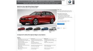 bmw build your car 2014 bmw 3 series sports wagon configurator live