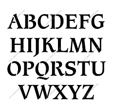 images of different fonts and bold styles english letters a z 25