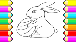 rabbit coloring pages how to draw bunny learn drawing for kids