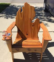 Vintage Adirondack Chairs Michigan Adirondack Chair With Cup Holder And Wine Glass Slot I