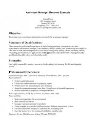 Objective Line Of Resume The Most Awesome Assistant Manager Resume Objective Resume
