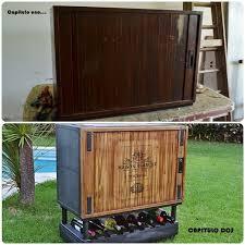 Bar Storage Cabinet From Antique Storage Cabinet To Modern Rolling Bar Hometalk