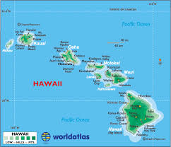 map of hawaii cities map of hawaii large color map