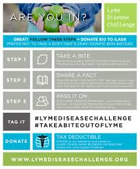 Challenge How To Do It How To Take The Challenge Lyme Disease Challenge