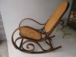 Patio Rocking Chairs Wood Wood And Wicker Rocking Chair Space Landscaping