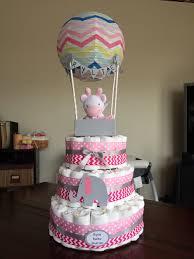 baby shower boy air balloon diaper cake baby pinterest
