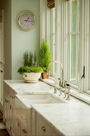 Farmhouse Kitchen Faucet by Farmhouse Kitchen With Calacatta Gold Marble Kitchen Countertop