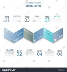 6 steps modern clean business infographics stock vector 714861664