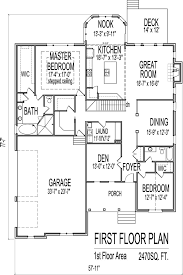 House Plans 2500 Sq Ft e Story
