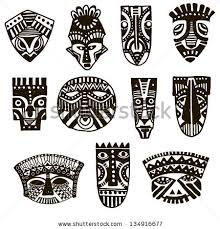 illustration ornamental element mask stock