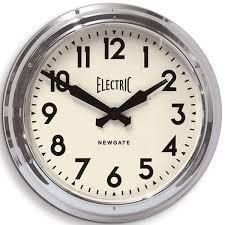 Giant Clocks by Newgate Giant Electric Station Clock Massive Chrome Wall Clock