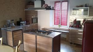 cuisine bois acier buffet acier bois cheap buffet style industriel meuble tv bois et