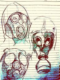 gas mask sketch by luckyjackall on deviantart