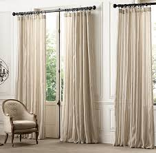 Restoration Hardware Belgian Opaque Linen Restoration Hardware Curtain Rods Interior Design