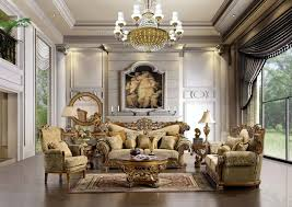 Large Living Room Furniture The Space Is Big And Has A Luxurious And Elegant Shapes And Large