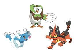 meet pokémon sun and moon u0027s starter pokémon and first evolutions