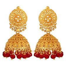 jhumki earring buy goldnera gold plated jhumki earring for women golden online