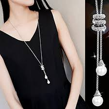 long silver fashion necklace images Rurah fashion ladies luxury charm crystal spiral jpg