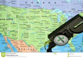 map of usa with compass usa map and compass stock images image 36043524