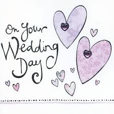 wedding day card finished on your wedding day card karenza paperie