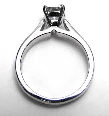cathedral solitaire engagement ring engagement ring platinum tapered cathedral solitaire engagement