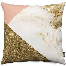 gold marble collage throw pillow nuvango fashion made in