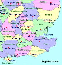 south counties map map