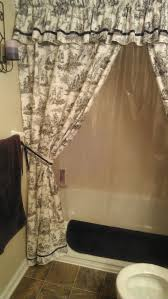 Custom Shower Curtains Items Similar To Made To Order Custom Shower Curtain With Valance