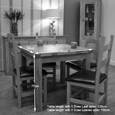 opus oak small draw leaf dining table furniture plus online