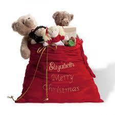 personalized santa sack deluxe santa sack lillian vernon