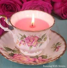 tea cup candle how to make a vintage teacup candle running with