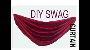 How To Make Curtain Swags Diy Swag Curtain Pattern Point To Point Swag Youtube