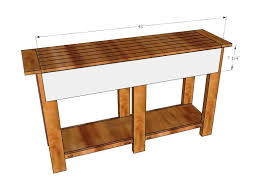 building ana white console table plans u2014 carolina accessories u0026 decor