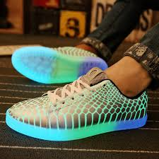light up shoes for adults men 2017 casual luminous shoes for men leather glowing light up shoes