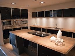 blue kitchen cabinets with wood countertops 52 kitchens with wood or black kitchen cabinets