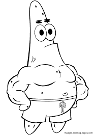 patrick star coloring pages